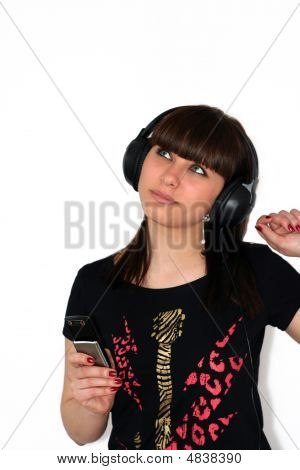 The Girl With Telephone And Earphone.