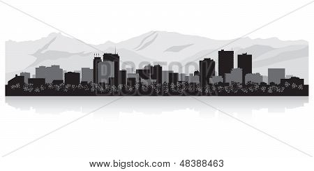 Anchorage City Skyline Silhouette