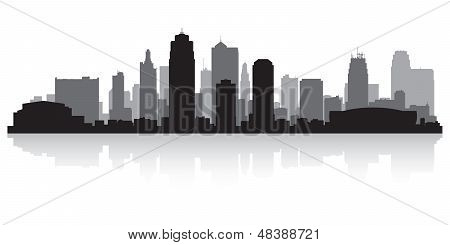 Kansas City Skyline silueta