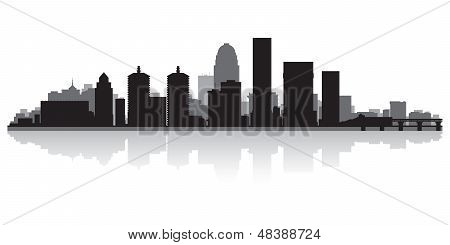 Louisville City Skyline Silhouette