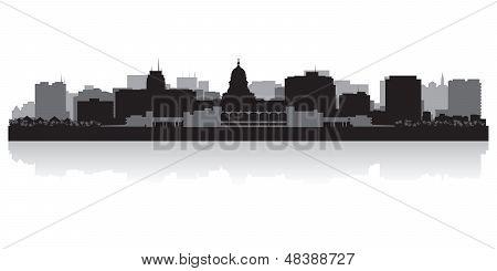 Madison City Skyline Silhouette