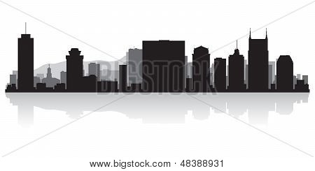 Nashville City Skyline Silhouette