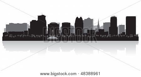 Orlando City Skyline Silhouette
