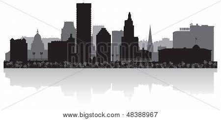 Providence City Skyline Silhouette