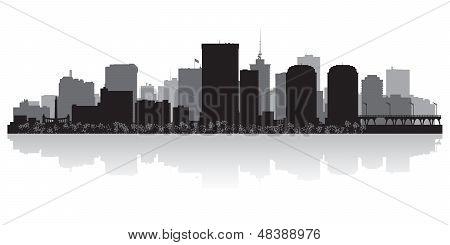 Richmond City Skyline Silhouette