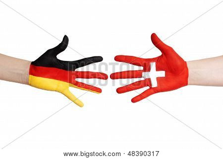 German And Swiss Hands
