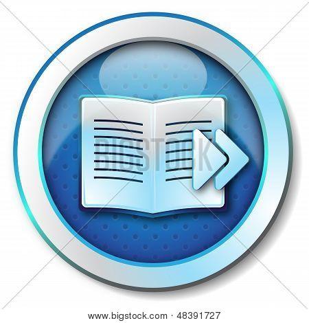 E-book browse forward icon