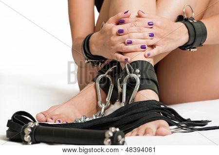 Chained Legs And Lash
