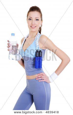 Sportliche schöne Frau