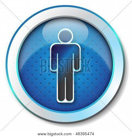 Symbol man icon