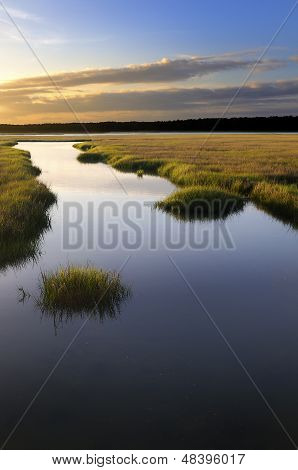 Coastal Salt Marsh at Sunrise