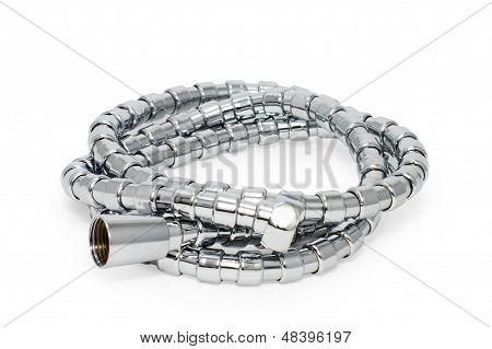Chrome-plated corrugated hose