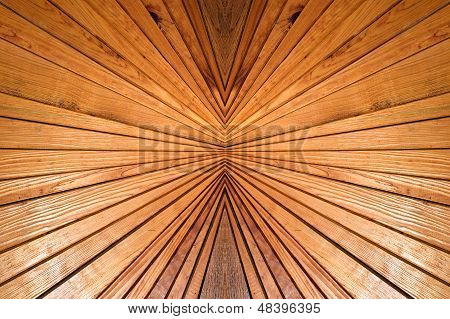 Symmetry And Prospective Wooden Background.