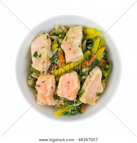 Salmon Meal In Bowl