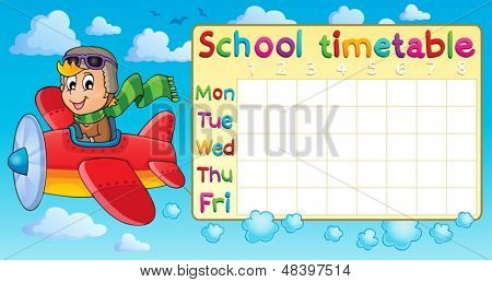 School timetable thematic image 1 - eps10 vector illustration.