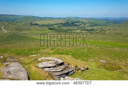 View of Dartmoor National Park Devon