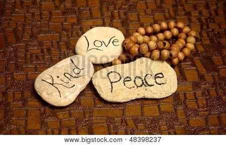 Peace, Love And Kind Rocks