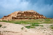 stock photo of ziggurat  - View of Zikkurat Choqa Zanbil in Iran - JPG