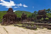 stock photo of champa  - Temple ruin of the My Son complex Vietnam - JPG