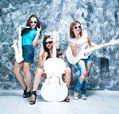 pic of sax  - female rock band - JPG