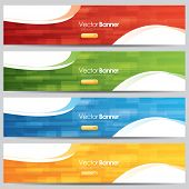 vector colorful website banners