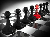 image of chessboard  - Chess pieces - JPG
