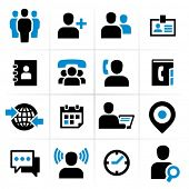 stock photo of people talking phone  - Business people icons set - JPG