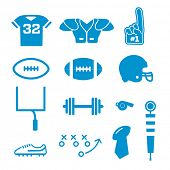 picture of football  - Vector Football Icons Collection - JPG