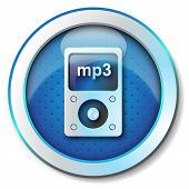 pic of beep  - Illustration metallic icon for web isolated - JPG
