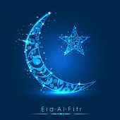 stock photo of ramadan mubarak card  - Muslim community festival Eid Al Fitr  - JPG