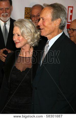Helen Mirren and Clint Eastwood at the 12th Annual Critics' Choice Awards. Santa Monica Civic Auditorium, Santa Monica, CA. 01-12-07