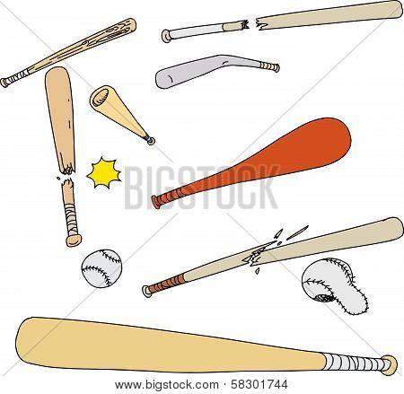 Broken Baseball Objects