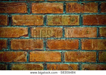 Brick Wall Background - Brown Red