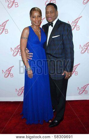 Mary J. Blige and husband Kendu Isaacs at the
