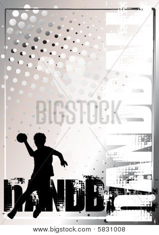 Handball Golden Poster Background 3
