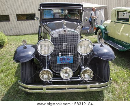 1929 Black Cadillac Front View