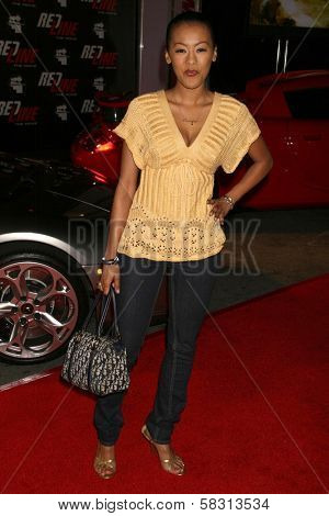 Denyce Lawton at the performance of Wyclef Jean and The Refugee All-Stars presented by