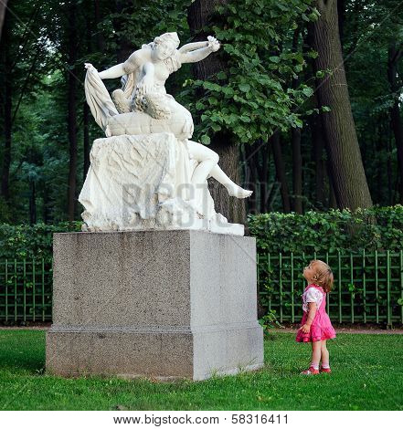 The Little Girl  and Sculpture