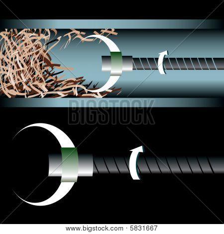 plumbers snaking tool