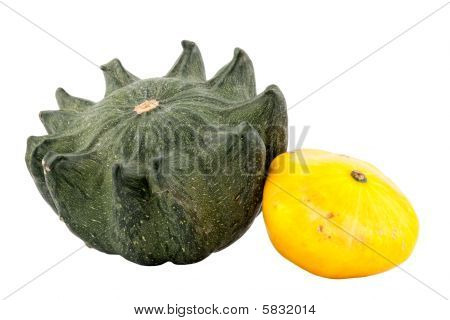 pumpkins, isolated on white background