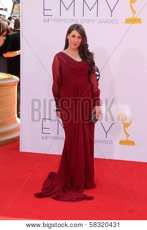 Mayim Bialik at the 2012 Primetime Emmy Awards Arrivals, Nokia Theater, Los Angeles, CA 09-23-12