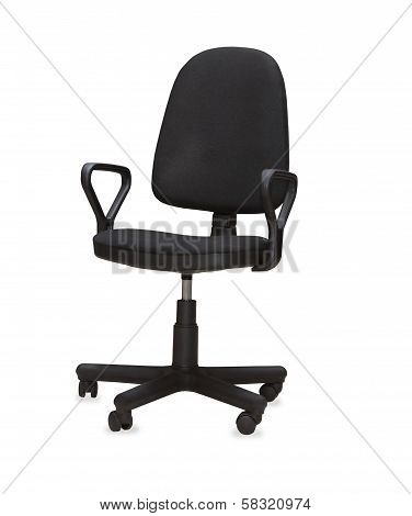 The Black Office Chair. Isolated over white