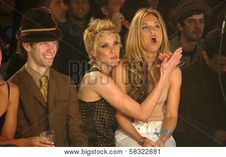 Seth Green with Jackie Warner and friend inside at the 2006 GM TEN Fashion Show. Paramount Studios, Hollywood, CA. 02-20-07