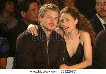 Eric Dane and Rebecca Gayheart inside at the 2006 GM TEN Fashion Show. Paramount Studios, Hollywood, CA. 02-20-07