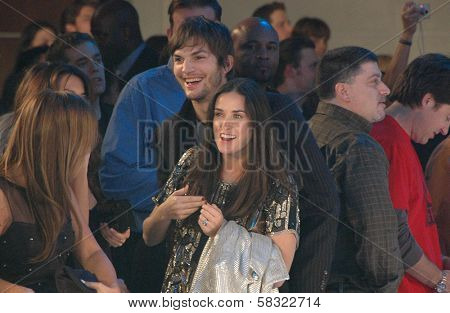 Demi Moore and Ashton Kutcher inside at the 2006 GM TEN Fashion Show. Paramount Studios, Hollywood, CA. 02-20-07