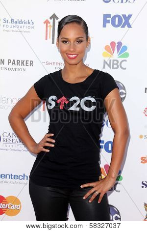 Alicia Keys at the 2012 Stand Up to Cancer, Shrine Auditorium, Los Angeles, CA 09-07-12