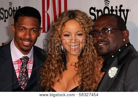 Nick Cannon, Mariah Carey, Randy Jackson at the 2012 BMI Urban Awards, Saban Theatre, Beverly Hills, CA 09-07-12