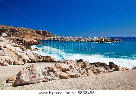 Pier On A South Shore Of Crete