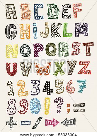 Doodle Fancy Abc Alphabet