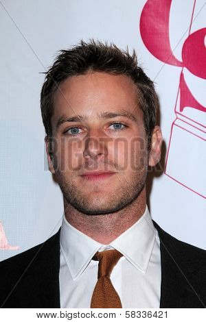 Armie Hammer at the Casting Society of America Artios Awards, Beverly Hilton, Beverly Hills, CA 10-29-12